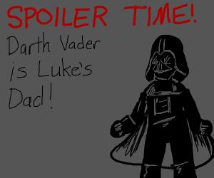 A Dark Vader spoiler