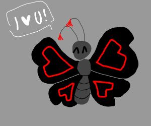 I Love U butterfly