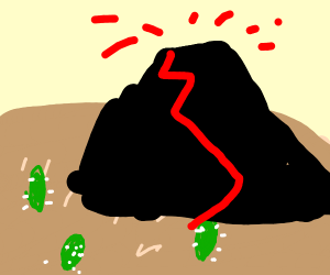 Volcano in the Desert