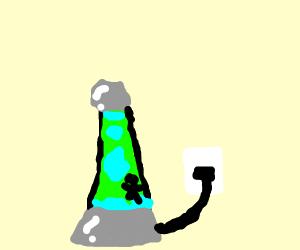 Man in lava lamp