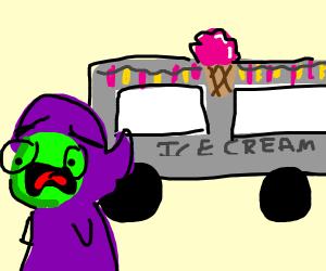 Scared of ice cream truck