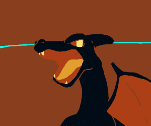 shiny/black charizard face (awesome btw)