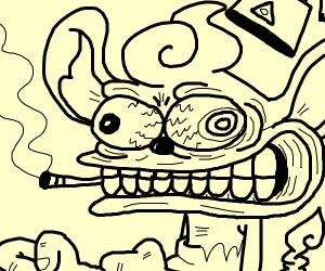 Angry Guy smoking