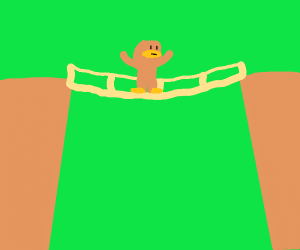 Bigfoot on a Bridge