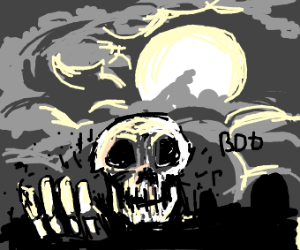 Skull gets out of his grave