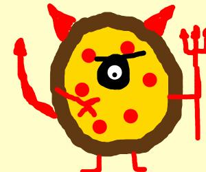 Evil cyclops pizza