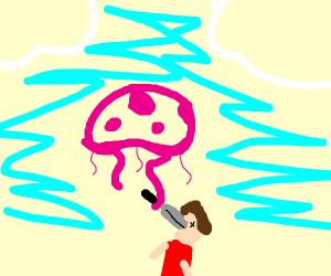 Jellyfish murders a man