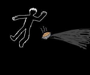 man died next to a pie