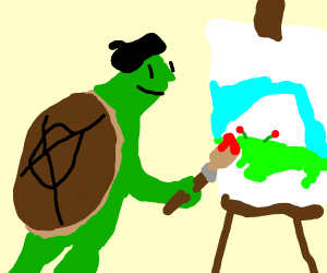 a turtle painting