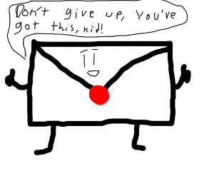 a very supportive envelope