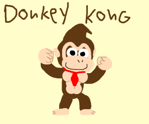 Donkey Kong with fabulous hair