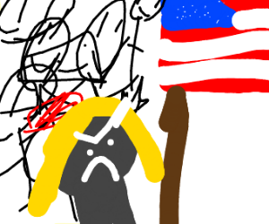 a girl who hates the american flag
