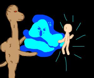 A camel devouring children's souls