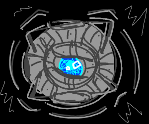 The spherical robot with blue eye from Portal