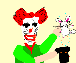 ScaryLookingClown Pulls A CuteBunny FromHat