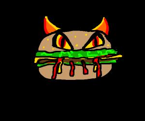 Demonic burger