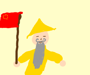 Old Chinese man with long beard
