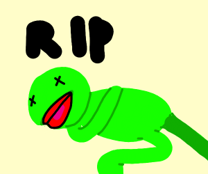 Dead kermit (Rip F in the chat)