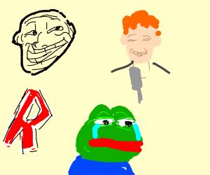 Gen Z memes collage