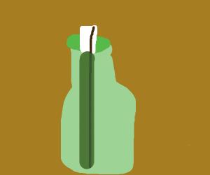 Long note in a bottle
