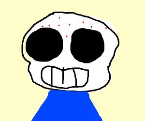 Sans but has pimples