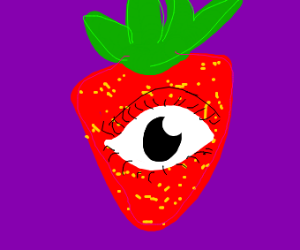 strawbery with One eye