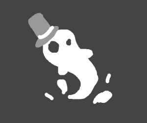 ghost with a top hat