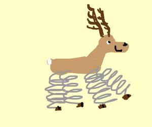 Happy spring reindeer