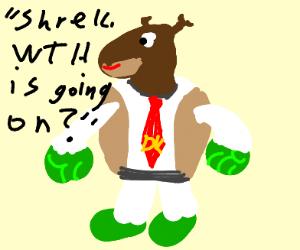 Donkey (Shrek) with DK tie