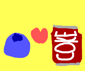 Blueberry loves Coke