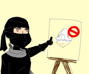 underwear is not for ninja masks...