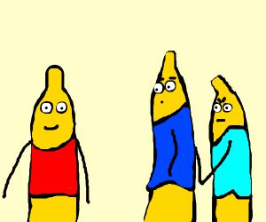banana having an affair