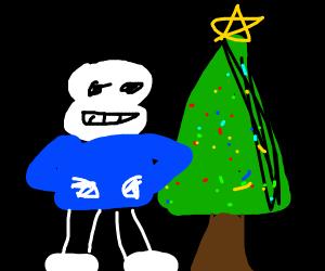 Undertale Christmas.Undertale Christmas Drawception