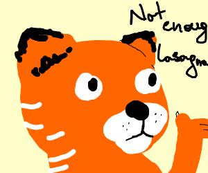 Garfield does not eat enough lasagna