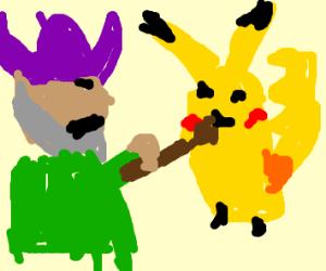 Viking attacks Pikachu