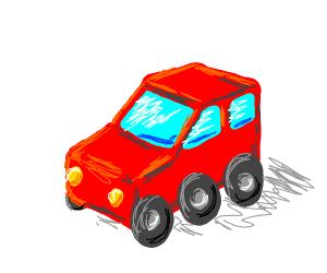 A car with 6 wheels