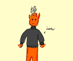 Fireboi with a thick jumper