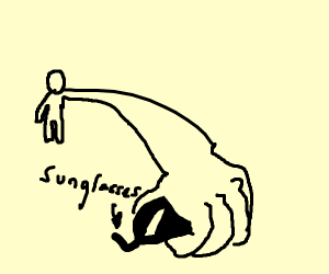 Teen reaching out for sunglasses