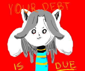 Temmie the tax collector (pay your debt)