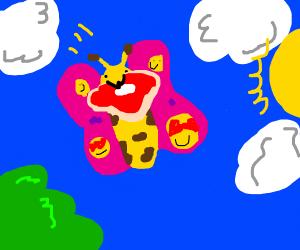 butterfly w/ deep fried emojis on wings