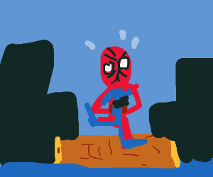 Spider-Man performs intense urban Riverdance