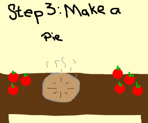 Step 2: take apples home