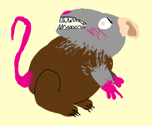 tsundere mouse/bear/rat??