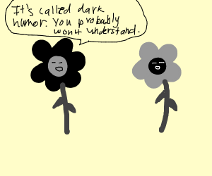 angry sad edgy goth flowers communicating
