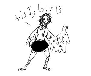 Human-bird hybrid