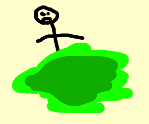 MAN STUCK IN GREEN Slime