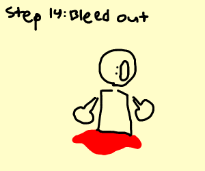 Step 13: legs go too fast and detach from bod