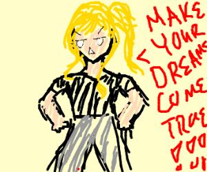 Motivational Blonde Girl