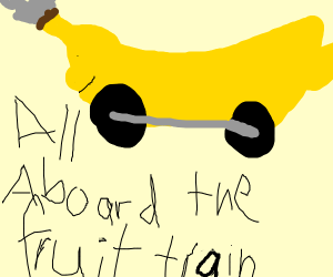 All aboard the fruit train