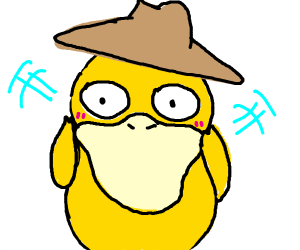 Psyduck wants to be a cowboy
